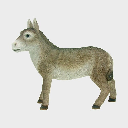 Krippenfigur Esel 36cm hoch
