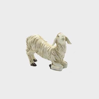 Krippenfigur Schaf kniend