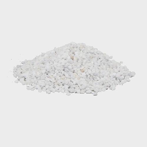 Krippendekoration Dekogranulat grob Weiß