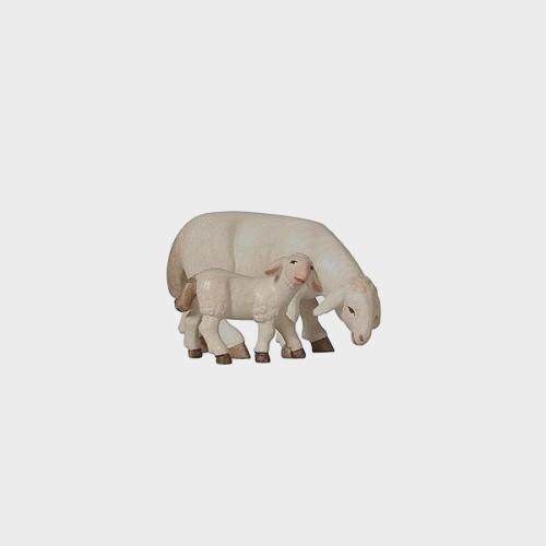 PEMA 274 Krippenfigur Schaf äsend mit Lamm