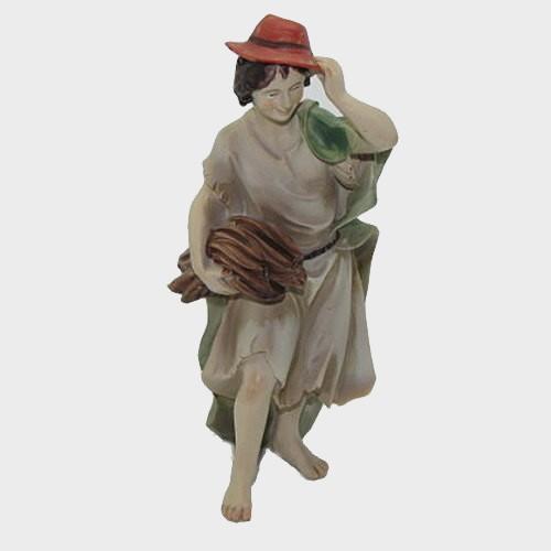 Krippenfigur Hirte mit Hut