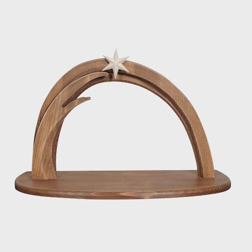 Krippenstall Leonardo braun aus Holz