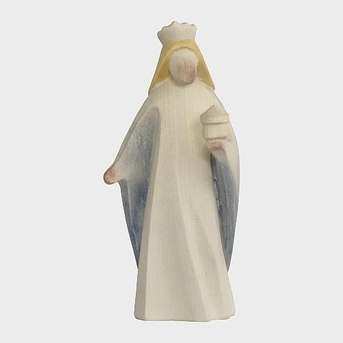 Aram 2203 Wasserfarbend Krippenfigur Heiliger König weiß