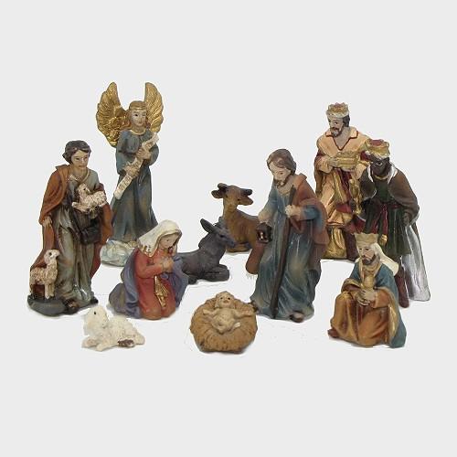 Krippenfiguren aus Kunstharz 11-teilig 5cm