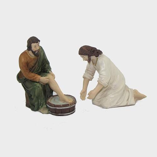 Passionsfiguren Fußwaschung 9cm