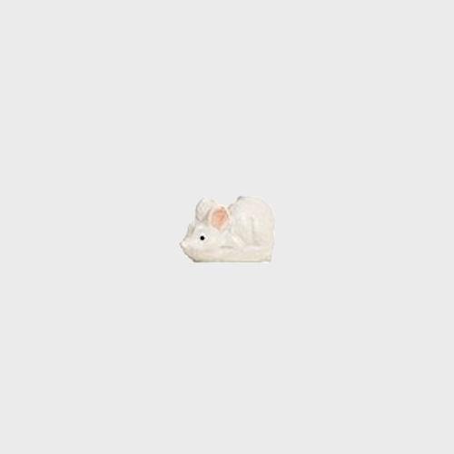 Krippenfigur weiße Maus