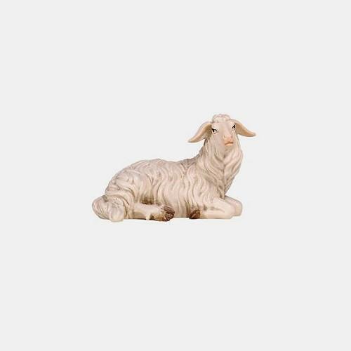 Handbemalte Kostner 253 Krippenfigur Schaf liegend rechtsschauend