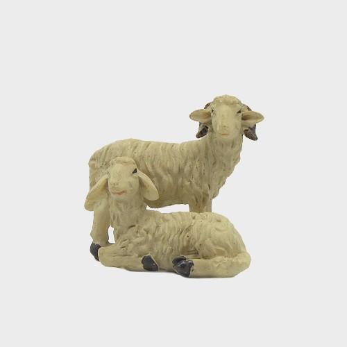 Krippenfigur Schafpaar