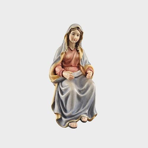 Handbemalte Kostner 0632 Krippenfigur Maria sitzend