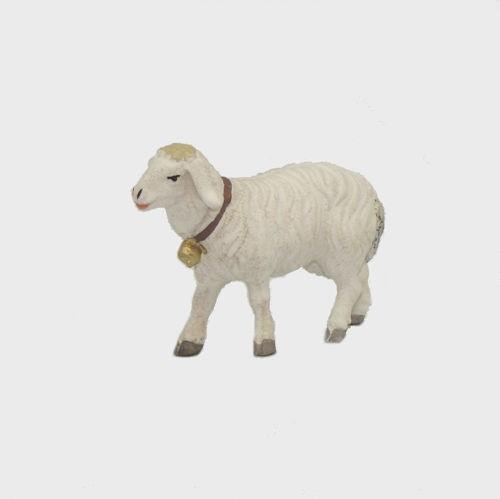 Zirbel 258 Krippenfigur Schaf gehend mit Glocke