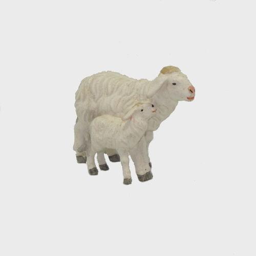 Zirbel 279 Krippenfigur Schaf mit Lamm stehend