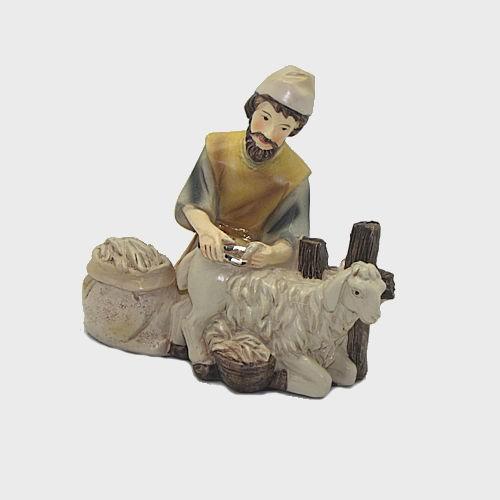 Krippenfigur Schafscherer