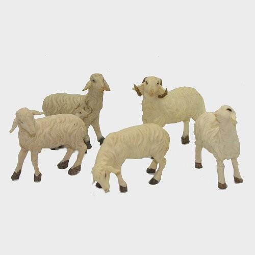 Krippenfigur Schafe im Set 5-teilig