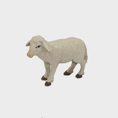 Krippenfigur Schaf stehend aus Holz