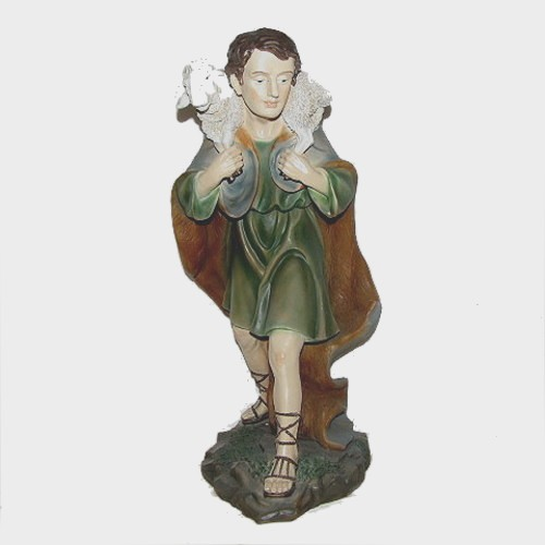 Krippenfigur Hirte mit Schaf 60cm