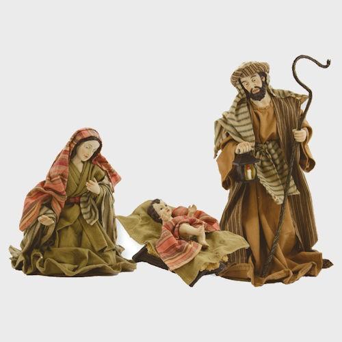 Krippenfiguren Hl. Familie orientalisch bekleidet 3-teilig 30cm