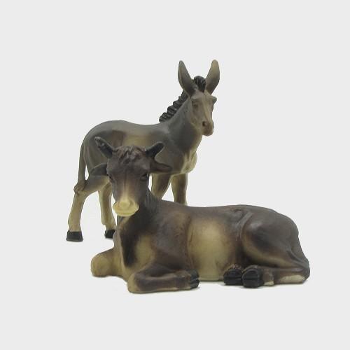 Krippenfiguren Ochse und Esel