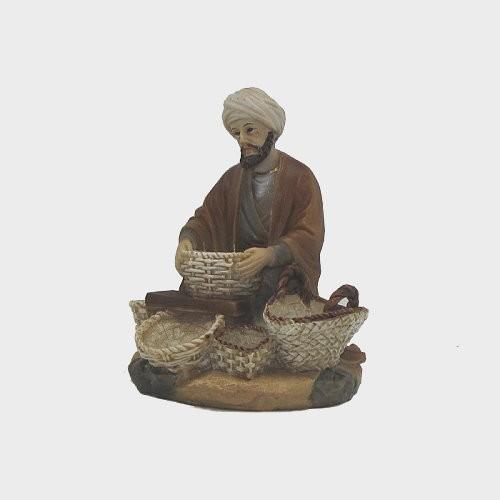 Krippenfigur Korbhändler