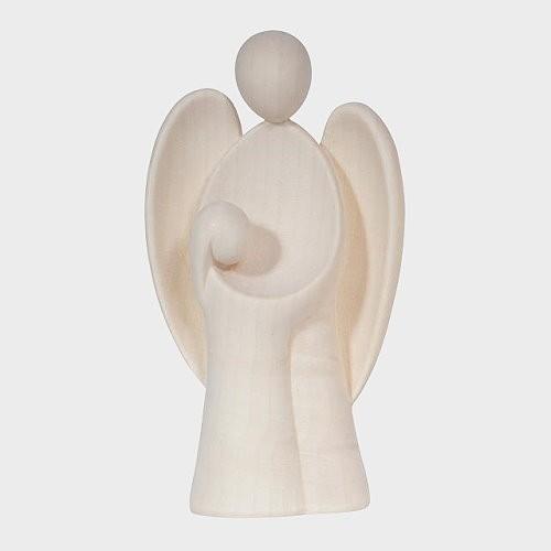 Engel aus Holz, Holzengel, Schutzengel mit Mädchen
