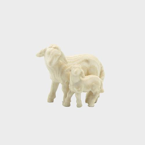 PEMA 279 natur Krippenfigur Schaf mit Lamm stehend