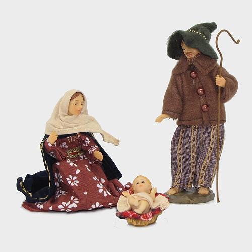 Krippenfiguren heimatlich bekleidet Hl. Familie 13cm