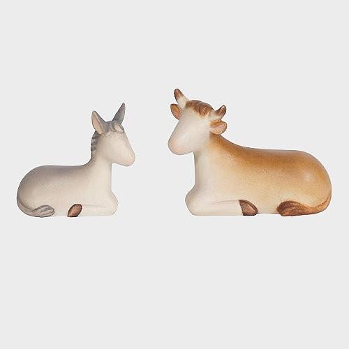 Krippenfiguren Ochse und Esel Leonardo 910512 Color
