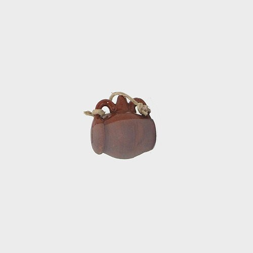 Krippendekoration Tonkrug glasiert 2,7cm hoch