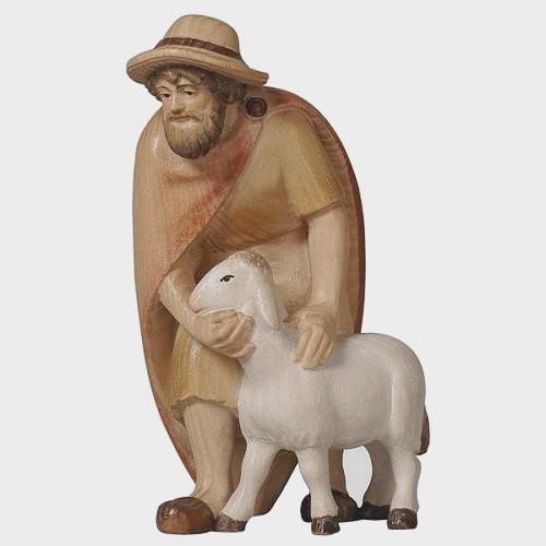 PEMA 015 Krippenfigur Hirte mit Schaf