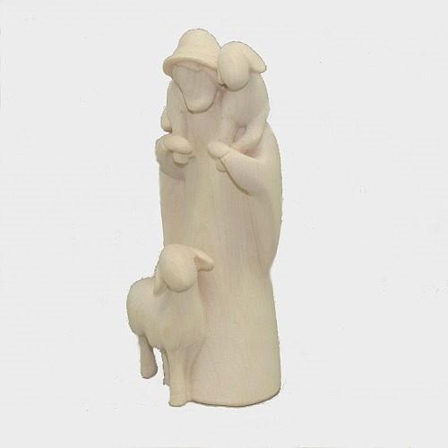 Leonardo 910046 Natur Krippenfigur Hirt mit 2 Schafe
