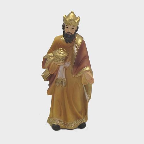 Krippenfigur König weiß 12cm