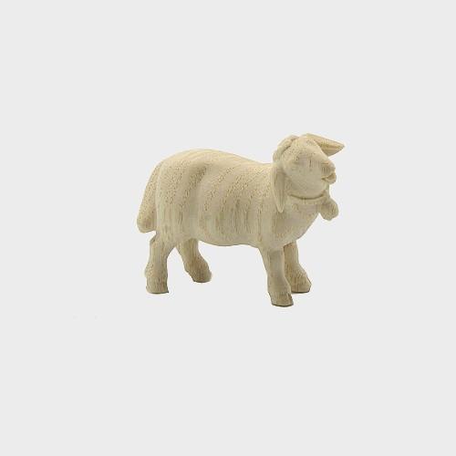PEMA 264 natur Krippenfigur Schaf stehend mit Glocke rechtsschauend