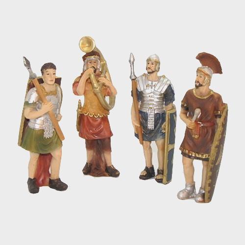 Passionsfiguren vier Soldaten 9cm