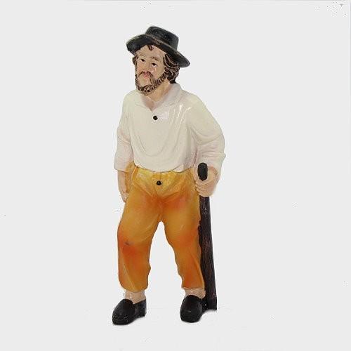 Krippenfigur Opa stehend mit Stock