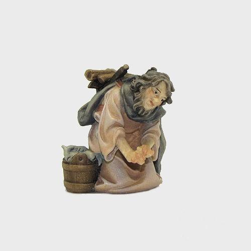 Nazareth Krippenfigur Hirte mit Fisch am Feuer