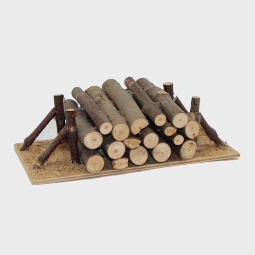 Krippenzubehör Holzstapel 15cm lang