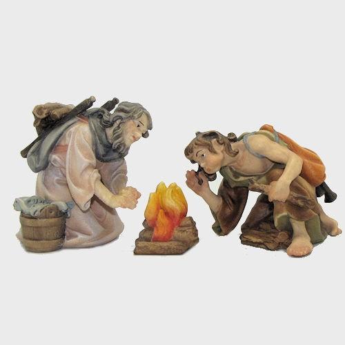 Nazareth Krippenfiguren Hirtengruppe am Lagerfeuer