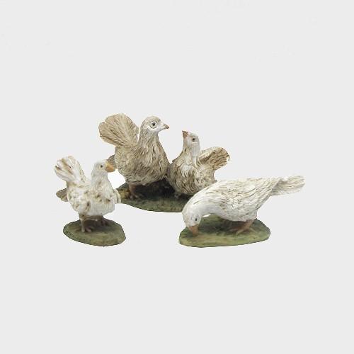 Krippenfiguren Tauben