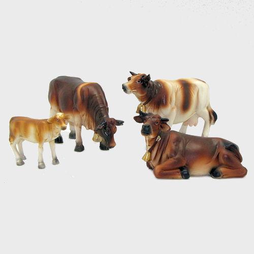 Krippenfiguren Kühe