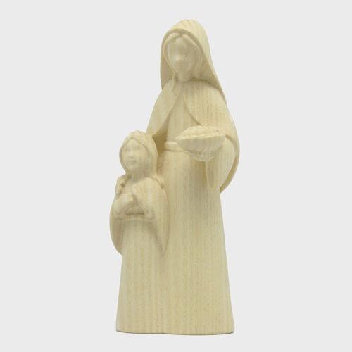 Fides 4619 Natur Krippenfigur Hirtin mit Kind