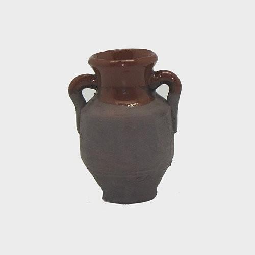 Krippendekoration Tonkrug glasiert 4,2cm