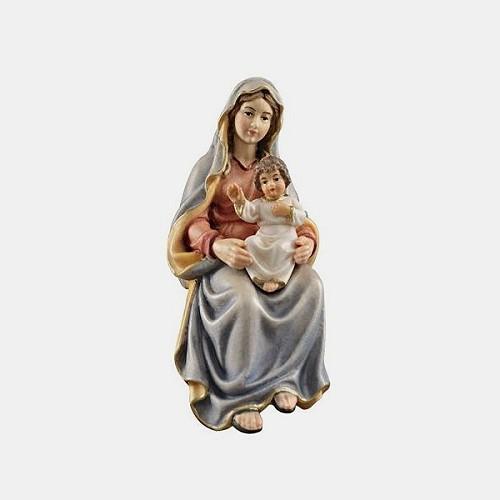 Handbemalte Kostner 063 Krippenfigur Maria mit Kind