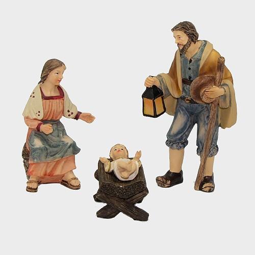 Krippenfigur Hlg. Familie Bauernkrippe im Set 3-teilig