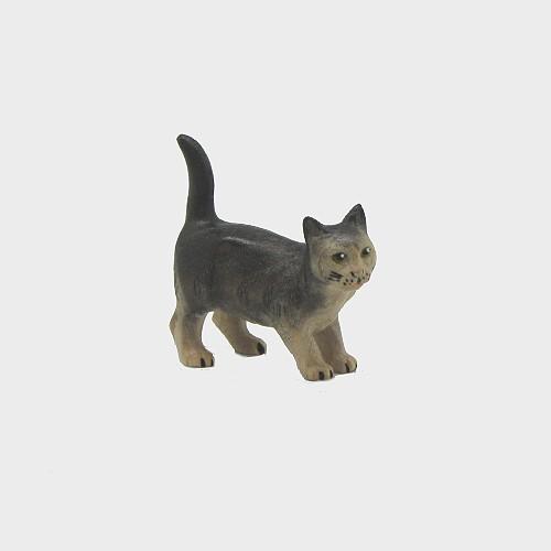 Advent 162 Krippenfigur Katze