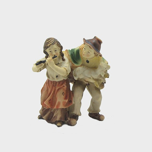 Krippenfigur Kinderpaar