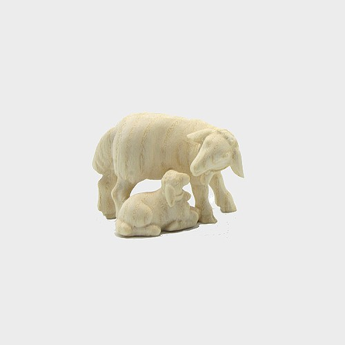 PEMA 276 natur Krippenfigur Schafgruppe mit Glocke