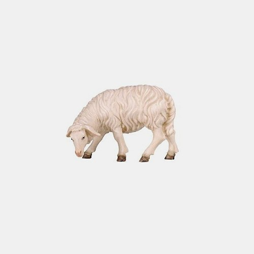 Handbemalte Kostner 256 Krippenfigur Schaf äsend linksschauend