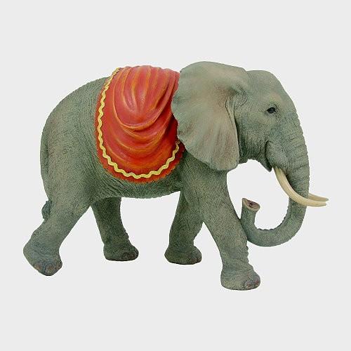 Krippenfigur aus Kunstharz Elefant 33cm hoch