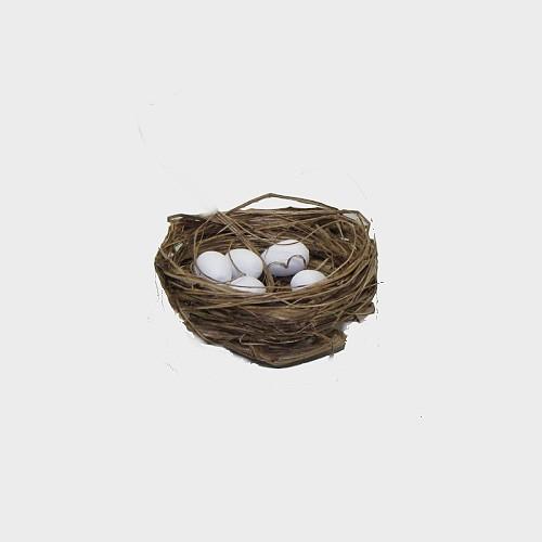 Krippendekoration Nest mit Eier