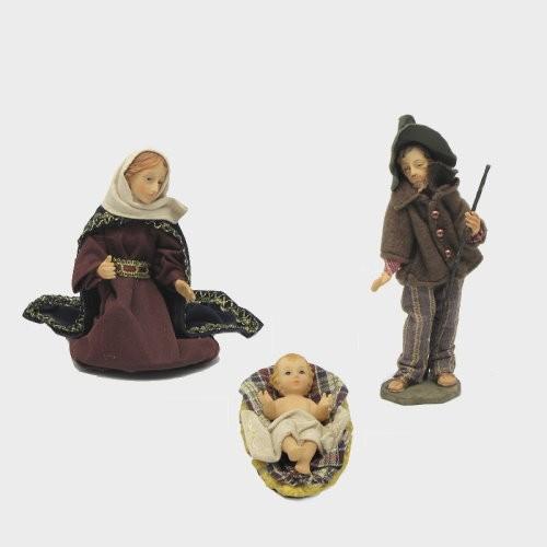 Krippenfiguren heimatlich bekleidet Hl. Familie 17cm