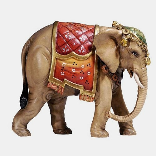 Handbemalte Kostner 181 Krippenfigur Elefant